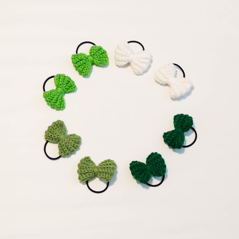 St Patrick's Day Pig Tail Bows  St Paddy's Hair Bow  image 0