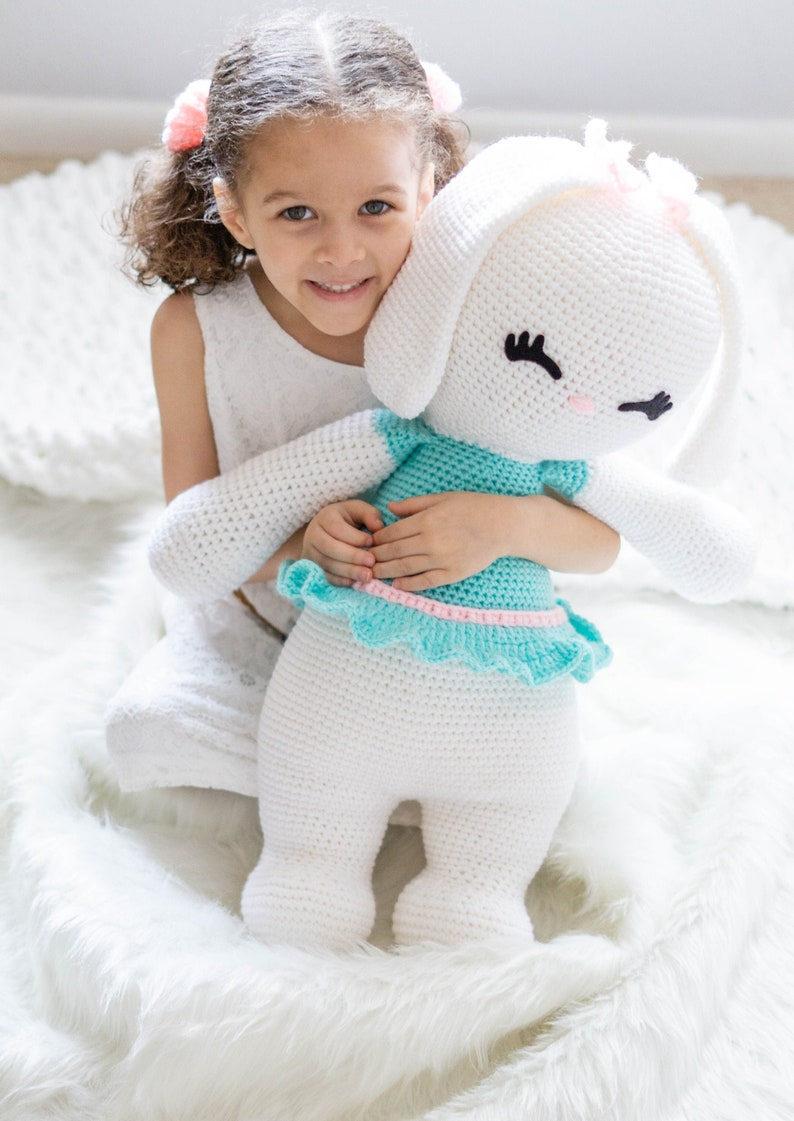 Plush Bunny  Amigurumi Bunny  Crochet Bunny  Stuffed Bunny image 0