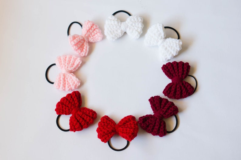 Valentine's Day Pig Tail Bows  Valentine's Day Hair image 0
