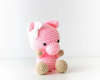 Pig Stuffed Animal - Baby Shower Gift - Pig Plush - Farm Animal Nursery Decor - Year of the Pig - Pig Lover Gift - Valentine's Pig