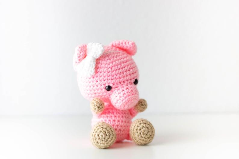 Pig Stuffed Animal  Baby Shower Gift  Pig Plush  Farm image 0