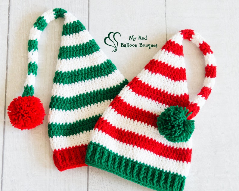 Twin Elf Hats  Christmas Elf Hat  Sibling Christmas Hats  image 0