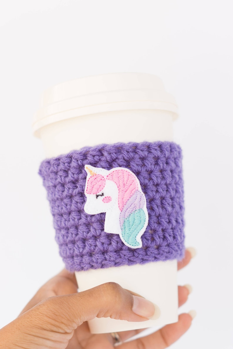 Unicorn Cup Cozy  Coffee Lover Gift  Travel Coffee Sleeve  image 0