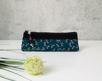 "Pencil case ""LIVELLA"" cotton / leather"