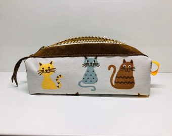 pencil case with cats