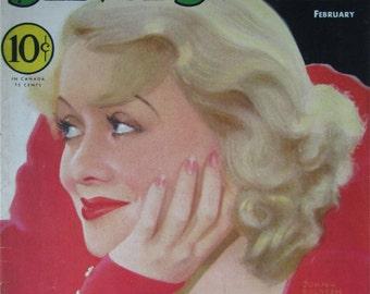 Original February 1933 Constance Bennett Silver Screen Magazine Cover By John Rolston Clarke