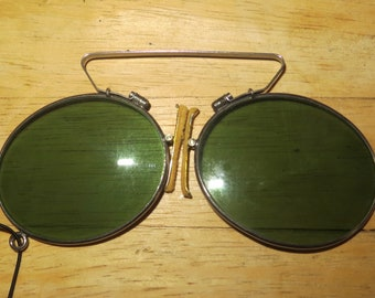 Very Rare 1920's Oliver Goldsmith London Prince Nez Sun Glasses - Historical Fashion Eyeglasses - Free Shipping