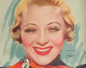Original August 1934 Sally Eilers Movie Classic Magazine Cover - Hollywood's Golden Age