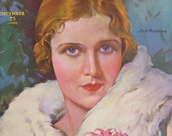Original December 1930 Ann Harding Screen Book Magazine Cover - Hollywood's Golden Age