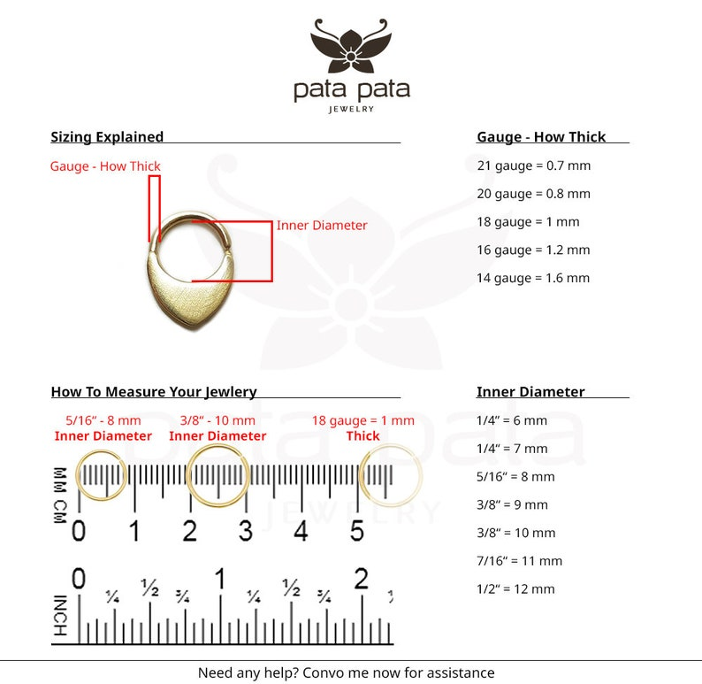 Septum Ring Nose Ring Tribal Septum Ring Solid 14k Yellow Gold Septum Jewelry Indian Septum Piercing