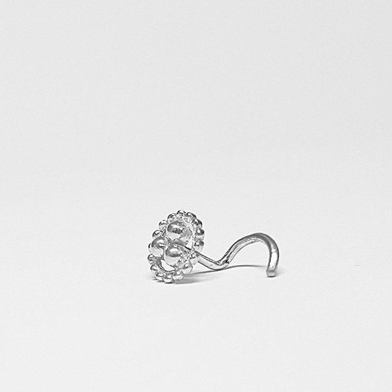16 Gauge Silver Nose Stud Nose Stud Ring 20g 18 Gauge Piercing Stud Nose Pin India Nose Stud 20 Gauge 18g Nose Bone Tribal Stud