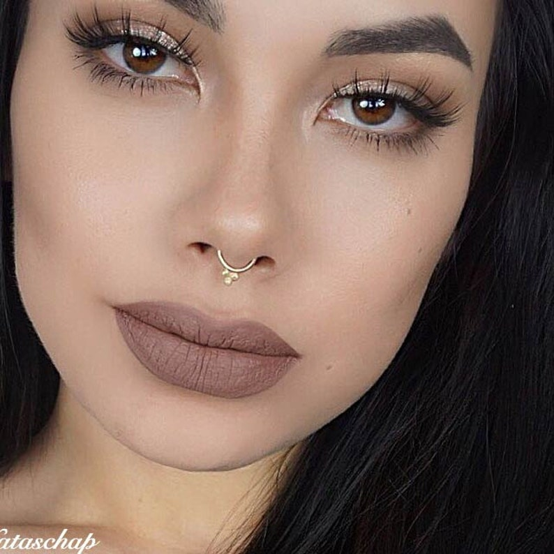 Solid Gold Septum Jewelry Gold Septum Ring 16g Gold Septum 16g Hippie Piercing Gold Septum Ring India Nose Ring Gold Septum Ring 14g