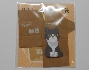 Cute Kitten Post its, Sticky notes with Cardboard Box