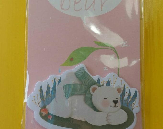 Polar Bear Sticky Notes