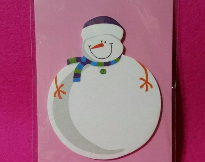 Snowman Sticky Notes