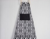 Apron, Aprons, printed apron, cotton, African print apron, kitchen apron, African fabric apron, womens mens apron, black and white kente