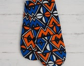 Double oven gloves for kitchen, Potholders made from abstract print, geometric oven gloves, new home house warming gift, orange blue balogan