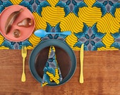 African Print Table Runner, Table Runner, Kitchen And Dining, African print, Table Linen, Table Cloth, Table Runner, Runner, Yellow Marine