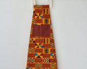 Apron, orange Apron, printed apron,  African print apron, kitchen apron, African fabric apron, womens apron, kitchen linens, Red brown Kente