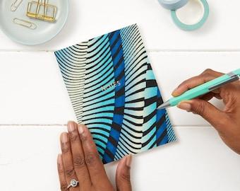 Handwriting journal - gratitude journal - cute writing journal - journaling - travellers notebooks - travellers notebook - Wavy Blue