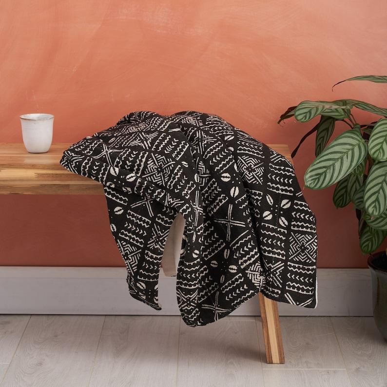 African duvet African print blanket African bedding Baby blanket African print throw Comforter Black Mud Cloth,, Ankara blanket