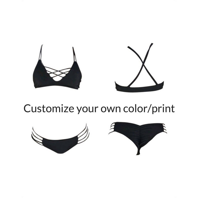 ad30bc44850f4 Customize Your Own Color Print You Design Your Own Bikini
