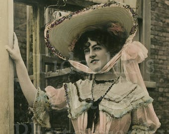 Miss Marie Studholme Edwardian Actress RPPC Postcard - Rotophot - Postmarked 1904