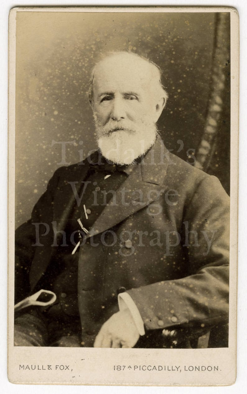 CDV Photo Victorian White Bearded Old Man Portrait By Maull