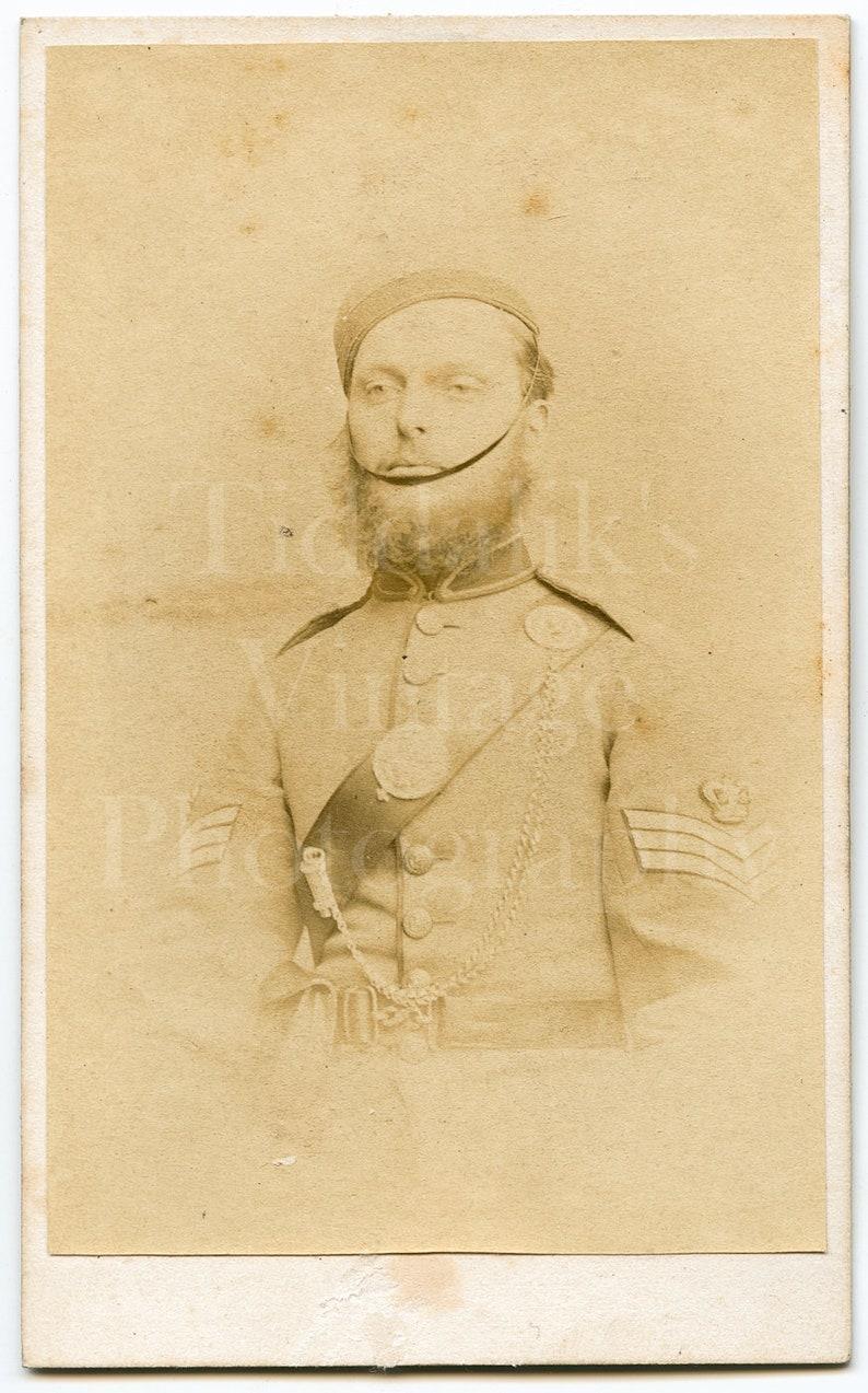CDV Carte De Visite Photo Victorian Young Man Military Dress