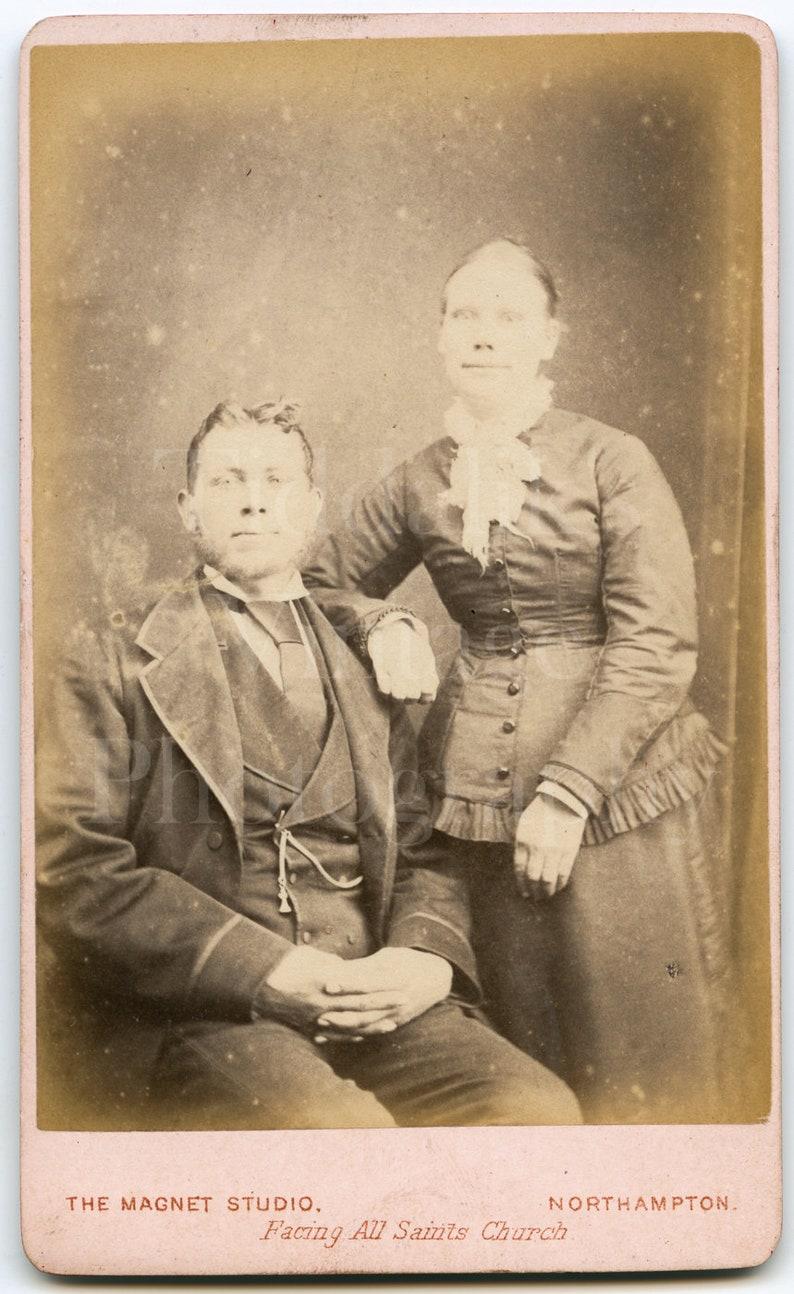 CDV Photo Carte De Visite Victorian Couple Man Woman Portrait