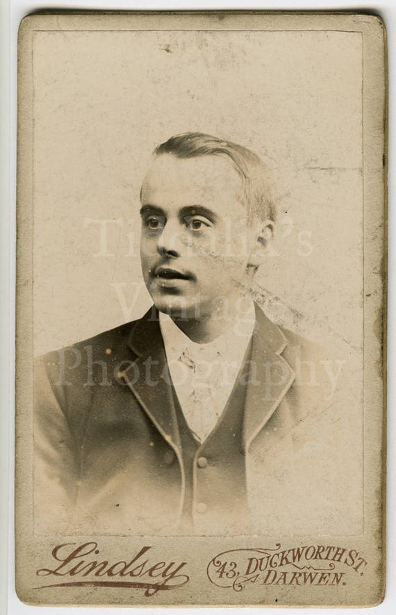 CDV Carte De Visite Photo Victorian Young Smart Handsome