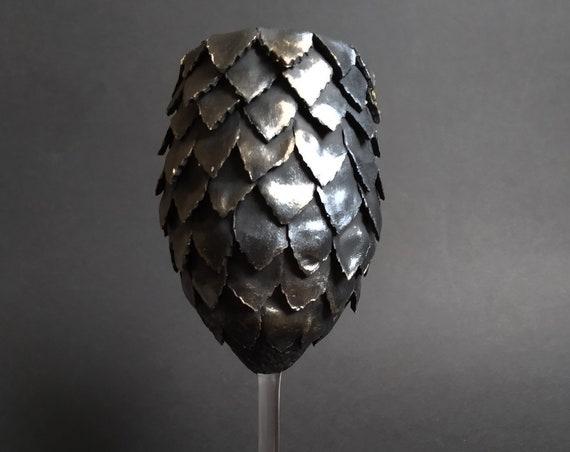 Game of thrones Dragon eggs Black handmade wine glass House Targaryen