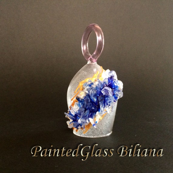 Free shipping Blue geode ring wine glasses