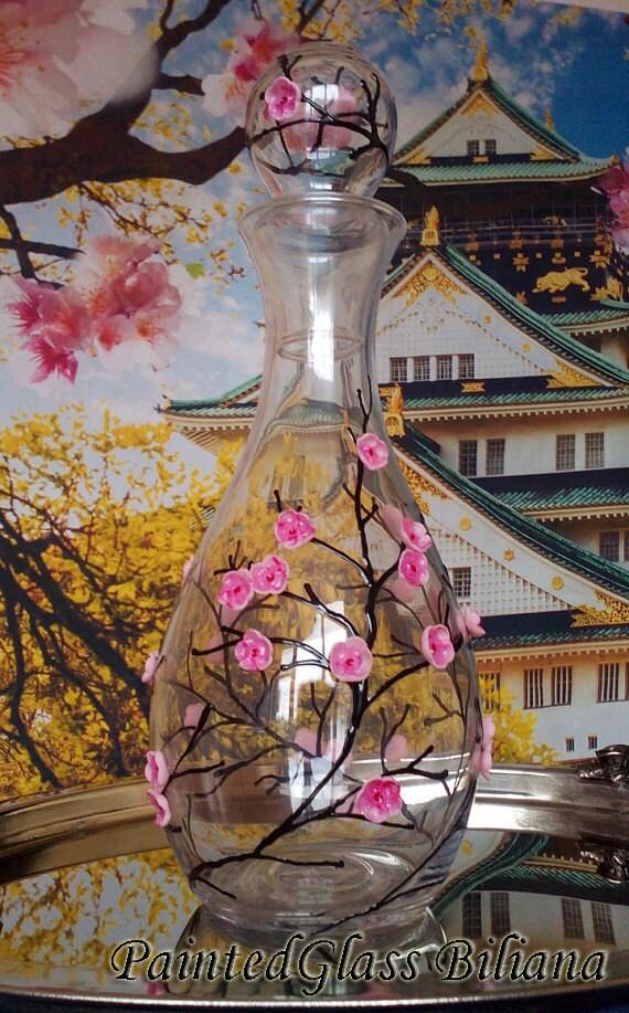 Sakura carafe wine decanter Cherry blossom theme 1000ml