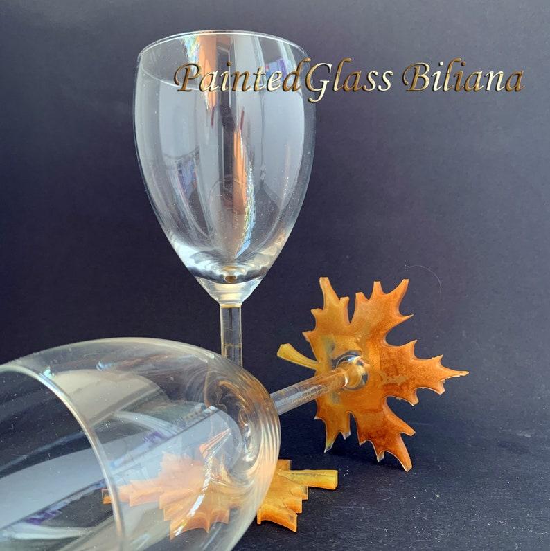 Maple Leaf wine glasses image 0