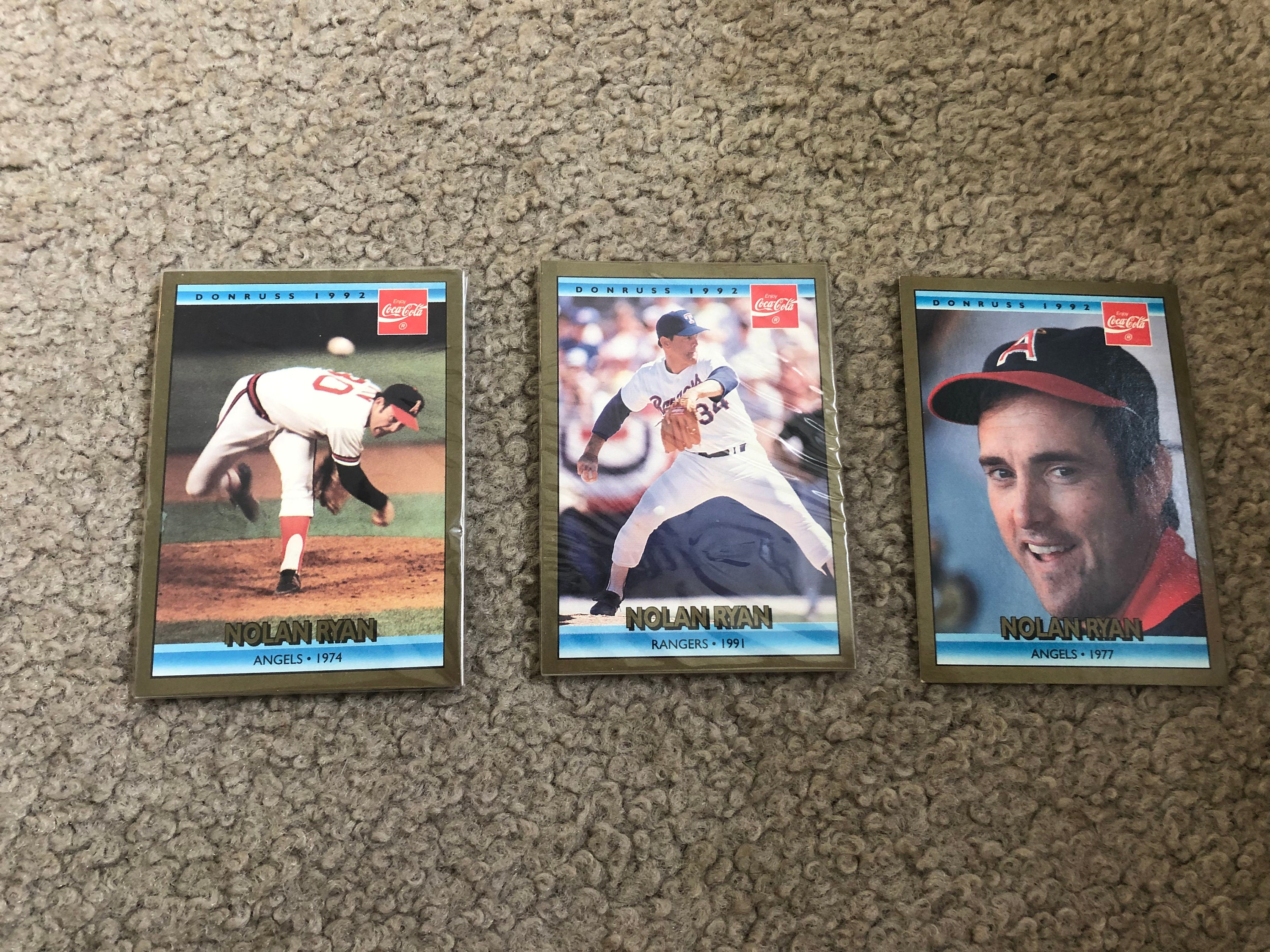 Nolan Ryan Baseball Cards 1991 1992 Leaf Inc Plus Two Packets With Other Cards