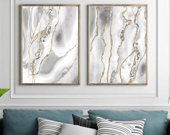 White And Gold Art Etsy