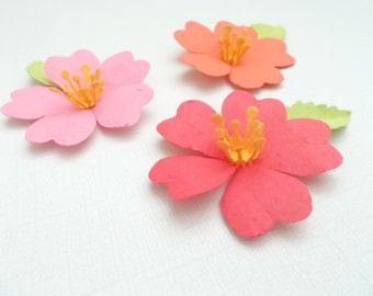 12 paper hibiscus flowers made from paper embedded with flower etsy 50 tropical hibiscus flowers plantable paper embedded with flower seeds plant and grow mightylinksfo