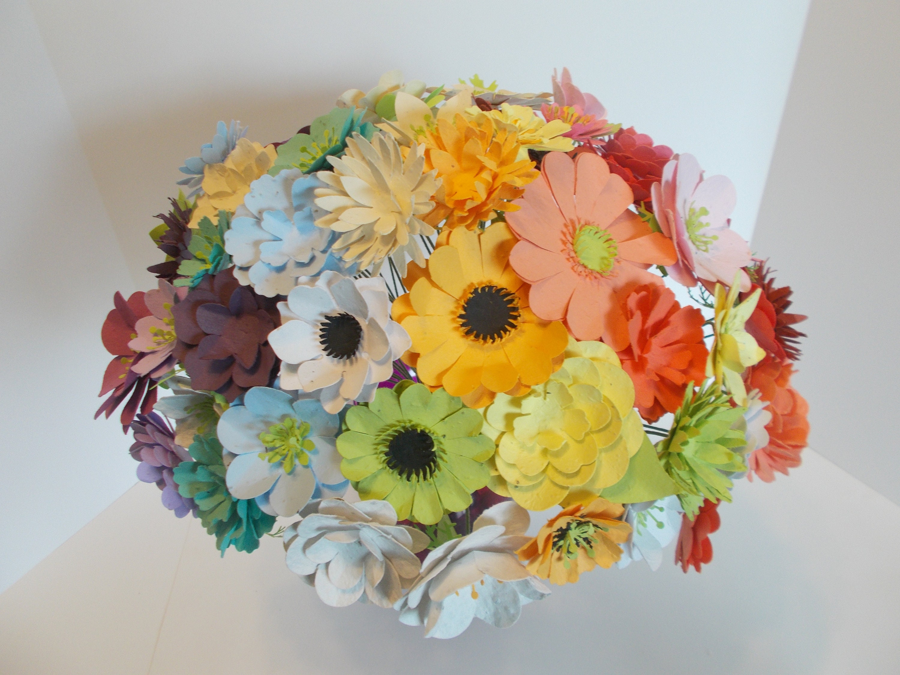 Seed Paper Flowers Bouquet Rainbow Assortment of Plantable   Etsy