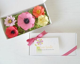 Plantable Paper Flower and Seed Bomb Sample Set - Unique Gardening Gift - Eco Friendly Paper Embedded with Flower Seeds!