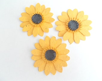 50 Seeded Paper Black-eyed Susan Flowers - Plantable Paper With Embedded Annual and Perennial Flower Seeds - Plant and Grow!