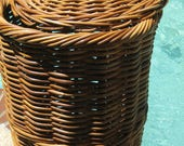 Vintage 1940 39 s Heavy Duty FRENCH RATTAN basket, made to last for Lifetimes. Excellent condition, Sturdy and Really Tough, Solid RATTAN.