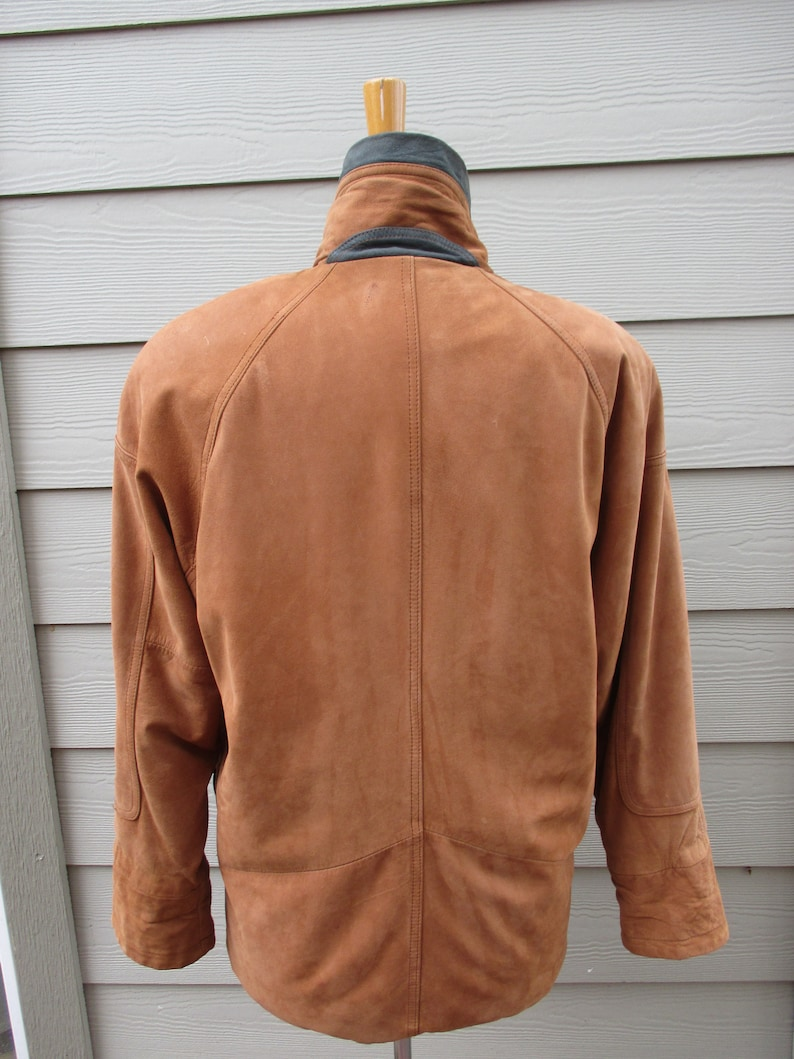 Great Color,Taggle Bolts VERY SOFT! Lots of Pockets Vintage Woman/'s Korean Made Jacket Extra Warm Suede and TARTAN Quilting inside