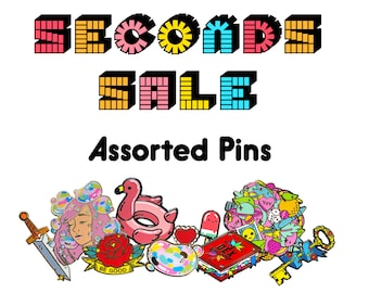 SECONDS Pins - Misc Pins - Enamel Pins with Slight Flaws - B Grade Lapel Pins
