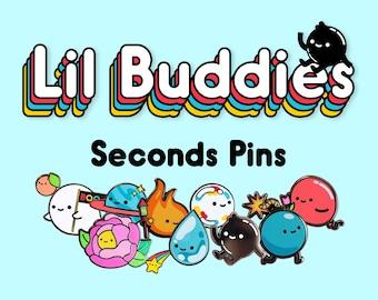 SECONDS Pins - Lil Buddies - Enamel Pins with Slight Flaws - B Grade Lapel Pins