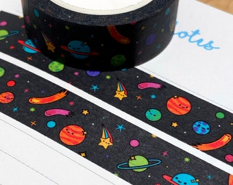Washi Tape - Space Buddies - Colourful Scrapbooking/Stationery/Planner Decoration - Paper Tape