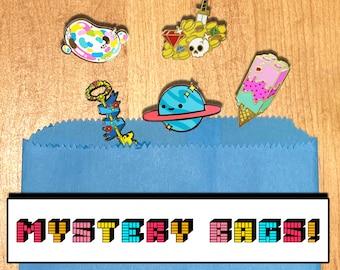 Mystery Bag - SECONDS Pins - Random Enamel Pins with Slight Flaws - B Grade Lapel Pins