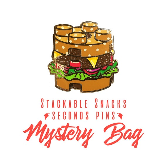 SECONDS Enamel Pin Mystery Bag - Snack Pack - 5 Seconds-Grade Lapel Pins in  one bag | Grab bag/ Lucky Dip