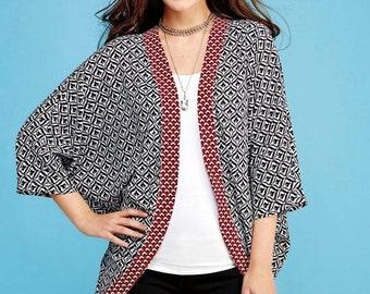 d64564ba0e9 Sewing Pattern Kimono Cardigans Pattern