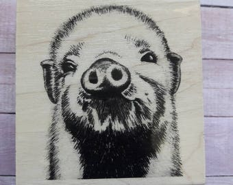 pig rubber stamp etsy